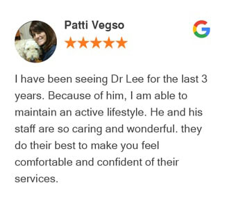 Patti Vegso Google review for Active Family Wellness
