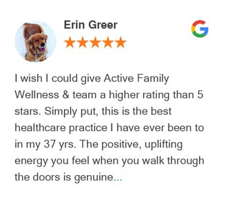 Google review for Active Family Wellness