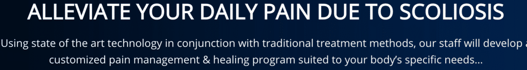Alleviate your daily pain due to scoliosis
