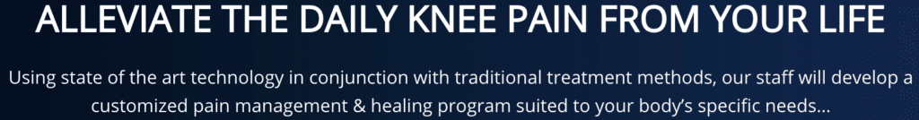 Message to Alleviate Daily Knee pain Fairfax