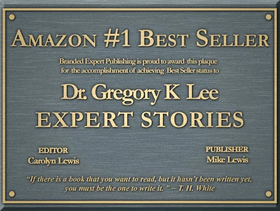 Dr. Gregory Lee has won the Amazon Award on Expert Stories