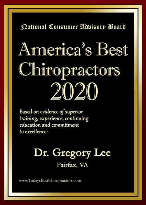 America's Best Chiropractor 2020 Dr. Gregory Lee DC Fairfax