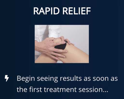 Message to result after first treatment session