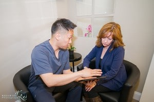Dr. Gregory Lee D.C with patient